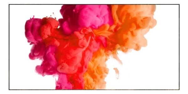 Spritzschutz Farbexplosion Rot