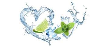 Limette im Wasser