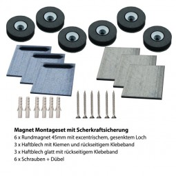 Magnet Montageset 4